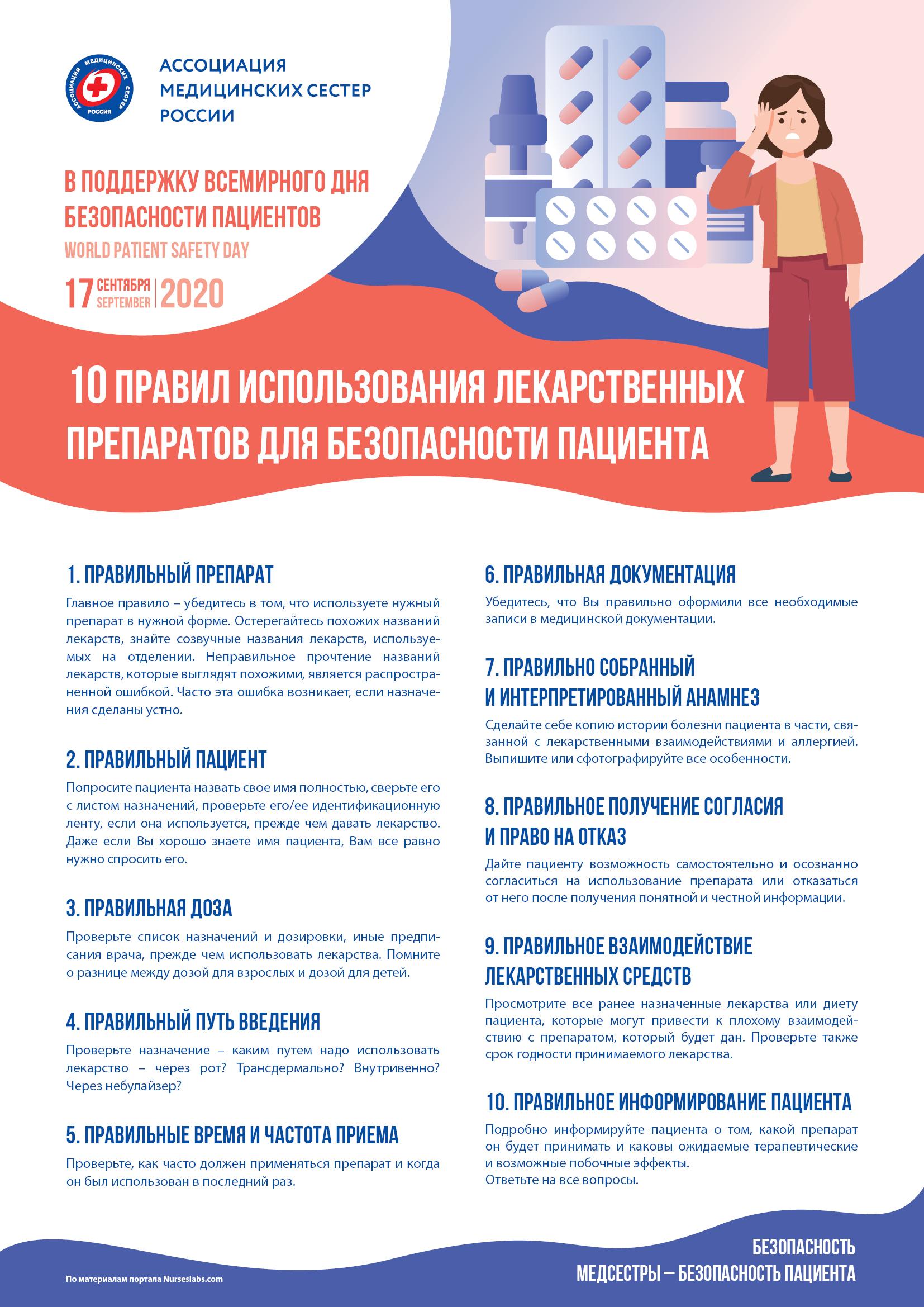17 сентября - Всемирный день безопасности пациентов